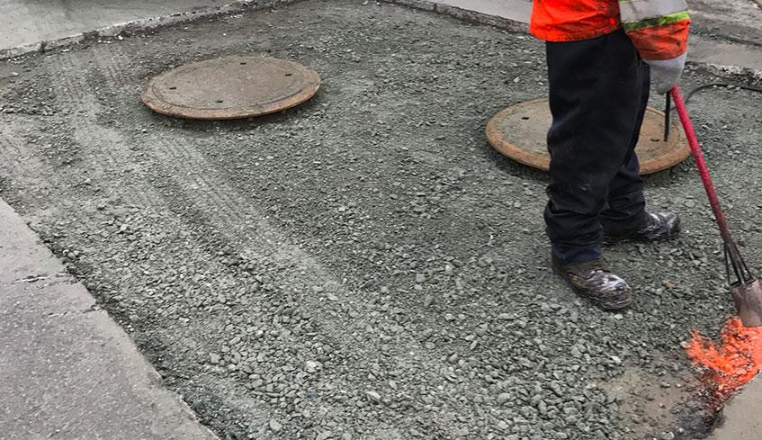 Réparation de pavage d'asphalte