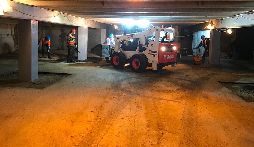 Pavage souterrain réparation