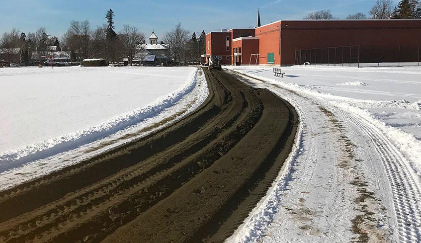 Pulverisation de materiel gele excavation précise