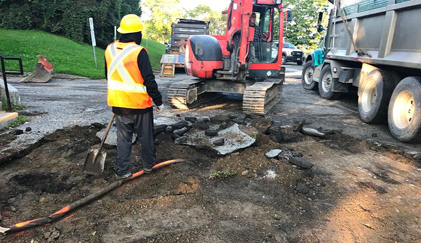 Enlevement d'asphalte